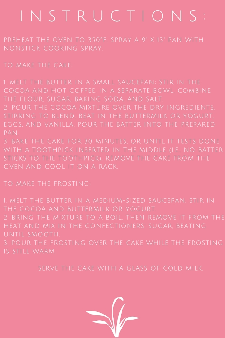 Cake Instructions Pink