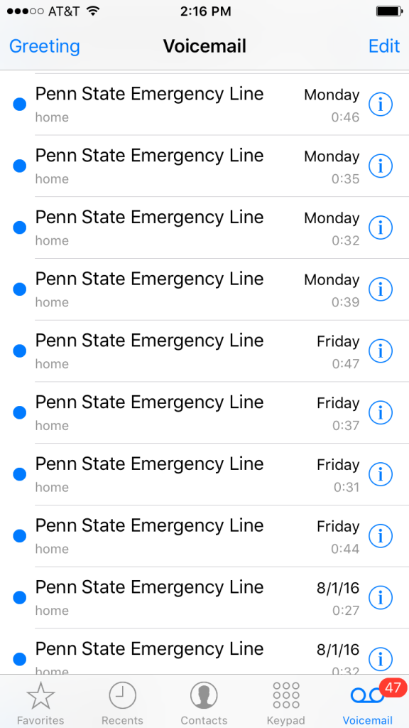 Emergency Line Voicemail 2